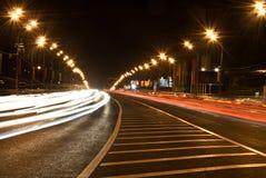 Leuchten auf Datenbahn Stockbild