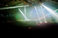Leuchten auf einer Stufe Stockfoto