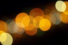 Leuchten der Stadt Stockbild