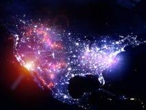 Leuchten der USA Stockfotos