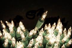 Leuchten des Feiertags mit Exemplarplatz Stockfotos