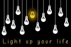 Leuchten Sie dem Leben stock abbildung