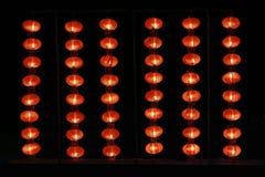 Leuchten Sie den roten ausgerichteten Laternen Lizenzfreie Stockbilder