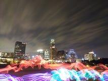 Leuchten Sie der Nacht lizenzfreie stockbilder