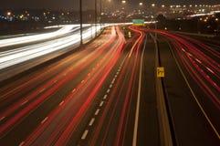 Leuchten vom Verkehr auf der Datenbahn Lizenzfreies Stockfoto
