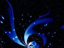 leuchtende blaue Fantasie lizenzfreie abbildung