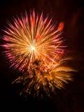 Leuchtende Feuerwerke Stockfoto