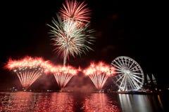 Leuchtende Feuerwerke Lizenzfreies Stockbild