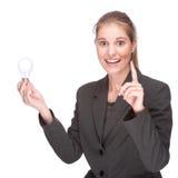 Leuchtende Geschäftsfrau Stockbild