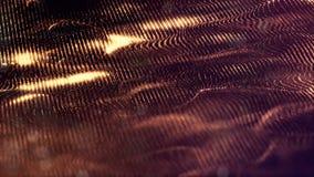 Leuchtende Partikel wie die Weihnachtslichter, die in der Luft, Fliegen hängen und abstrakte Formen und Oberflächen bilden Auszug stock footage