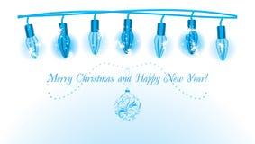 Leuchtende Weihnachtsgirlande Lizenzfreie Stockfotos
