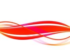 Leuchtende wellenförmige rote Zeilen Stockfoto