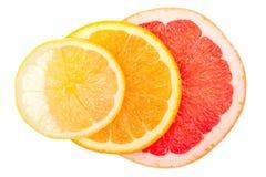 Leuchtende Zitrusfrüchte, Leuchte von unterhalb stockfoto