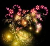 Leuchtender Blumenstrauß des Fairy-tale vektor abbildung
