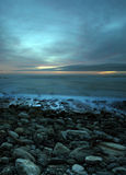 Leuchtender Sonnenuntergang lizenzfreies stockbild