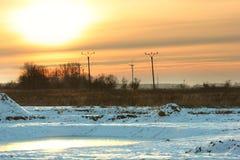 Leuchtender Winter Stockbild