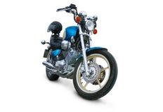 Leuchtendes Motorrad auf weißem Hintergrund Stockbild