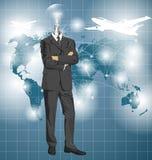 Leuchtenkopf-Geschäftsmann In Suit Lizenzfreie Stockbilder