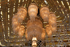 Leuchter des Sheraton Hotels in Doha Stockfotografie