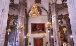 Leuchter-Mosaik-alte Basilika Guadalupe Mexiko City Mexiko Lizenzfreie Stockfotos
