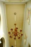 Leuchter von Sultan Abu Bakar State Mosque in Johor Bharu, Malaysia Lizenzfreie Stockfotografie