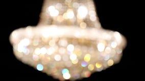 Leuchter von Unschärfe zu Fokus stock video footage