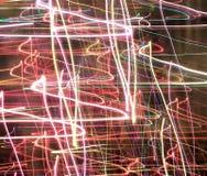 Leuchtespuren Stockbild