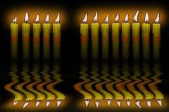 Leuchtet alles Gute zum Geburtstagüberschwemmungwasser durch vektor abbildung