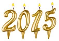 Leuchtet neues Jahr 2015 durch Stockbild