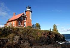 Leuchtfeuer auf Lake Superior Lizenzfreies Stockfoto