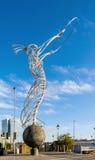 Leuchtfeuer der Hoffnungsskulptur in Belfast, Nordirland Lizenzfreie Stockfotos