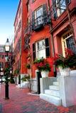 Leuchtfeuer-Hügel, Boston Lizenzfreies Stockfoto