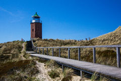 Leuchtfeuer Kampen Lighthouse at Sylt.  Royalty Free Stock Image