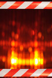 Leuchtfeuer mit Absperrband Lizenzfreie Stockfotografie