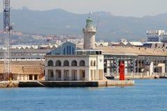 Leuchtfeuer und Hafen Marseille, Frankreich Stockfotos