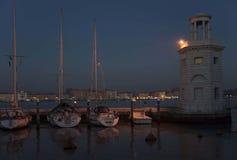Leuchtfeuer in Venedig stockbild