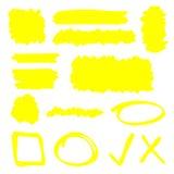 Leuchtmarker-Elemente vektor abbildung