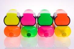 Leuchtmarkerfedern Lizenzfreies Stockfoto