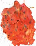 Leuchtorange-Aquarellflecke des Regenbogens schöne, abstraktes Bild, empfindliche lila Blume des blauen lila rosa Bildes stockfotografie