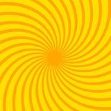 Leuchtorange strahlt Hintergrund aus Twistereffekt Pop-Arten-Art Lizenzfreie Stockfotos