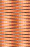 Leuchtorange- und Weißmuster mit curvy Linien stock abbildung