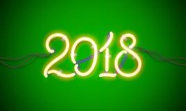 Leuchtreklame 2018 Stockfotografie