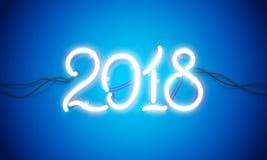 Leuchtreklame 2018 Lizenzfreie Stockfotos