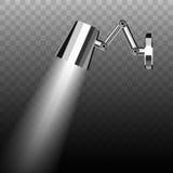 Leuchtstoff energiesparendes Chrom überzogener Metallwandbehang Mobil vektor abbildung