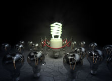 Leuchtstoff Glühlampe lizenzfreie abbildung