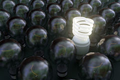 Leuchtstoff Glühlampe stockfoto