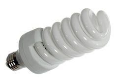 Leuchtstoff Glühlampe auf einem weißen Hintergrund Lizenzfreies Stockfoto