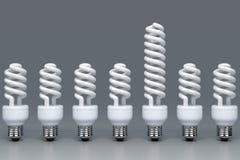 Leuchtstoff Glühlampen Lizenzfreies Stockfoto