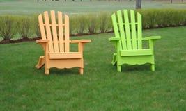 Leuchtstoffrasen-Stühle Lizenzfreies Stockbild