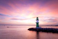 Leuchttürme morgens Stockfoto